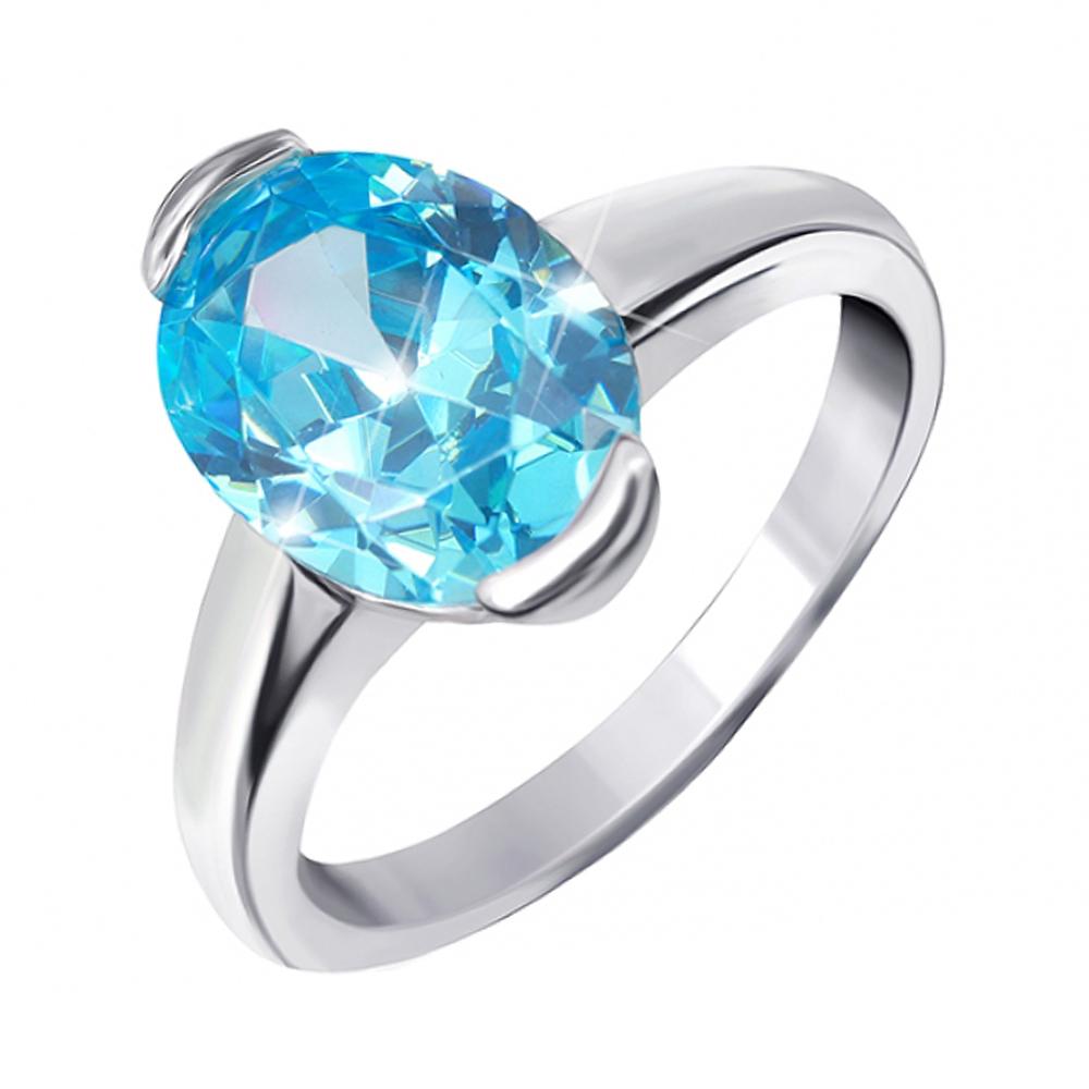 Серебряное кольцо с фианитом 000025473