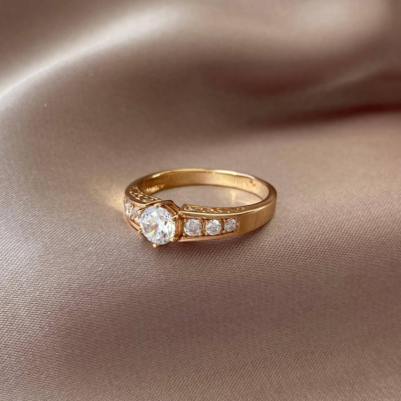 Кольцо из красного золота Гретель с фианитами 000103792 17.5 размера от Zlato - 3