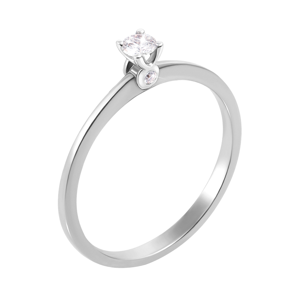 Кольцо из белого золота с бриллиантами 000134559 Zlato