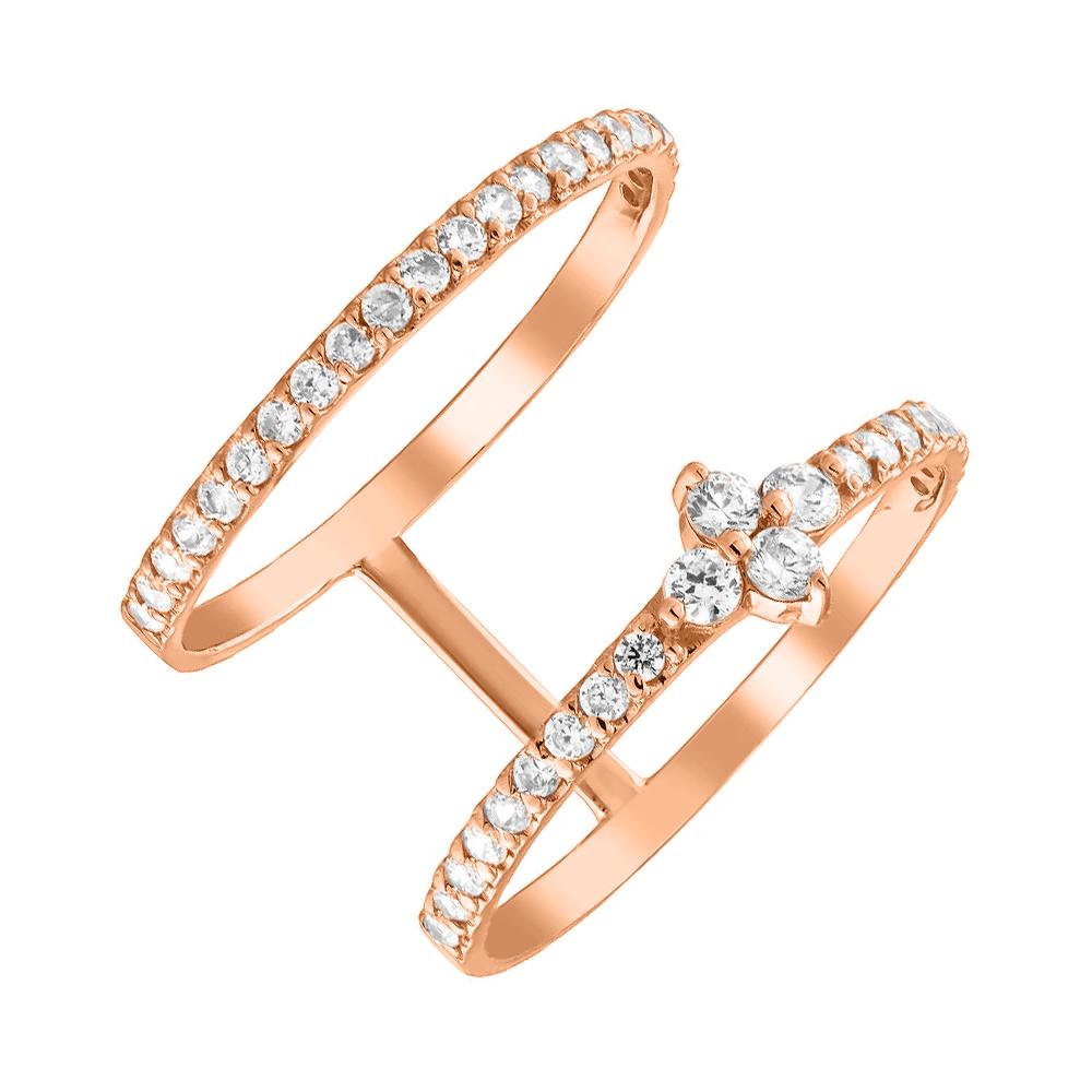 Золотое кольцо с фианитами 000054616 Zlato