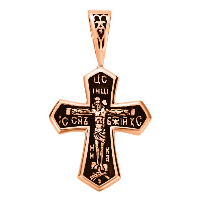Крестик из красного золота с чернением 000103802 000103802 от Zlato