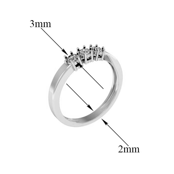 Кольцо в белом золоте Марианна с фианитами 000097283 16.5 размера от Zlato - 3