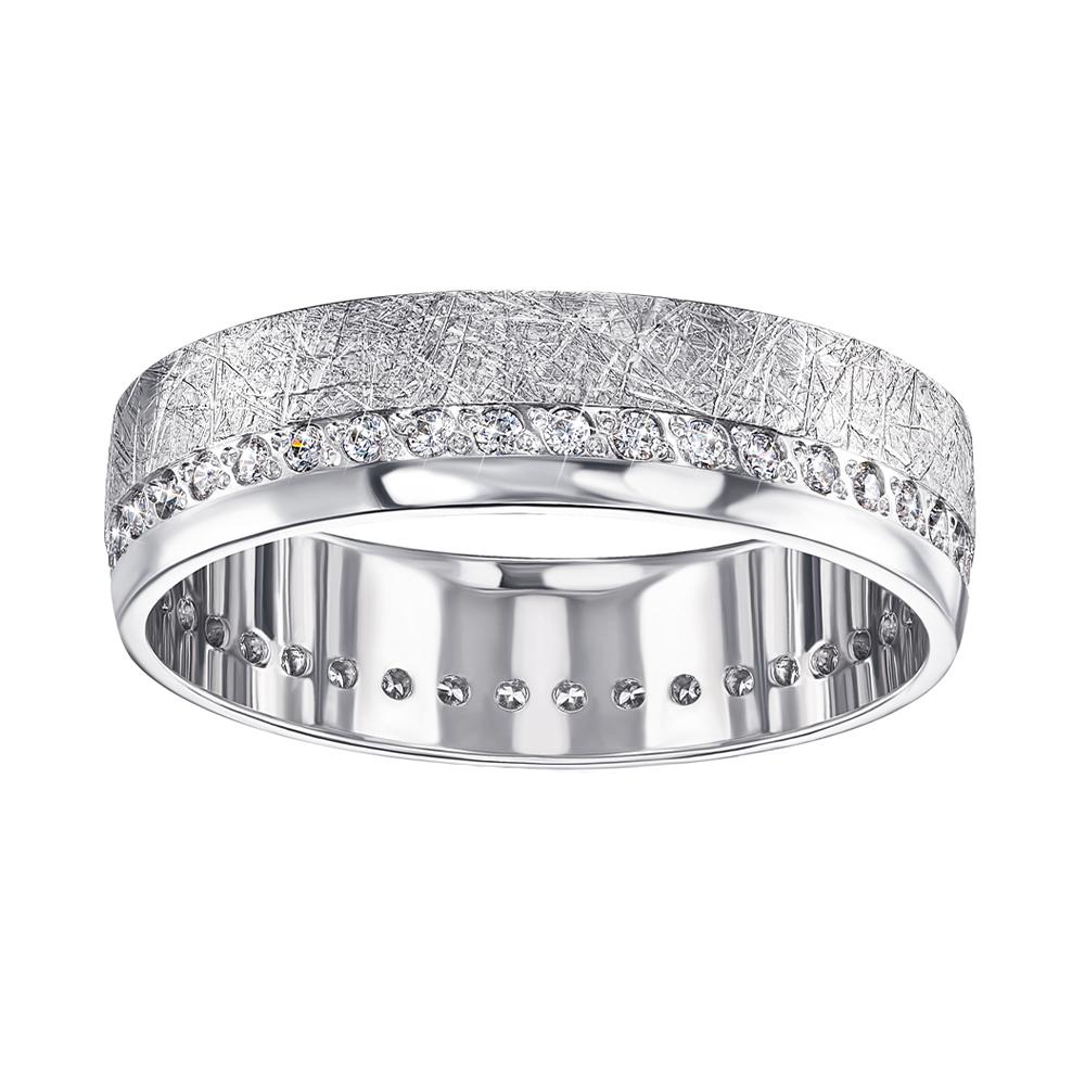 Обручальное серебряное кольцо с фианитами 000133407 000133407 20 размера от Zlato - 3