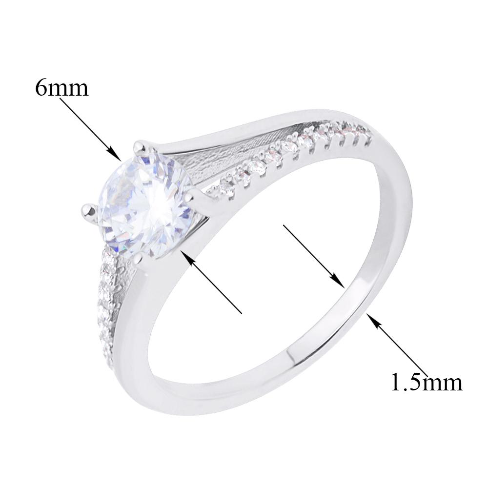 Серебряное кольцо с кристаллами циркония 000118373 000118373 17.5 размера от Zlato - 2