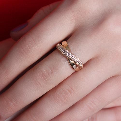 Золотое кольцо с цирконием 000044628 000044628 16.5 размера от Zlato - 2