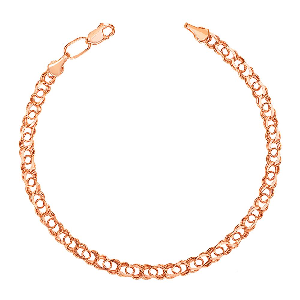Золотой браслет в свободном плетении арабский бисмарк, 3мм 000056962 000056962 18.5 размера от Zlato