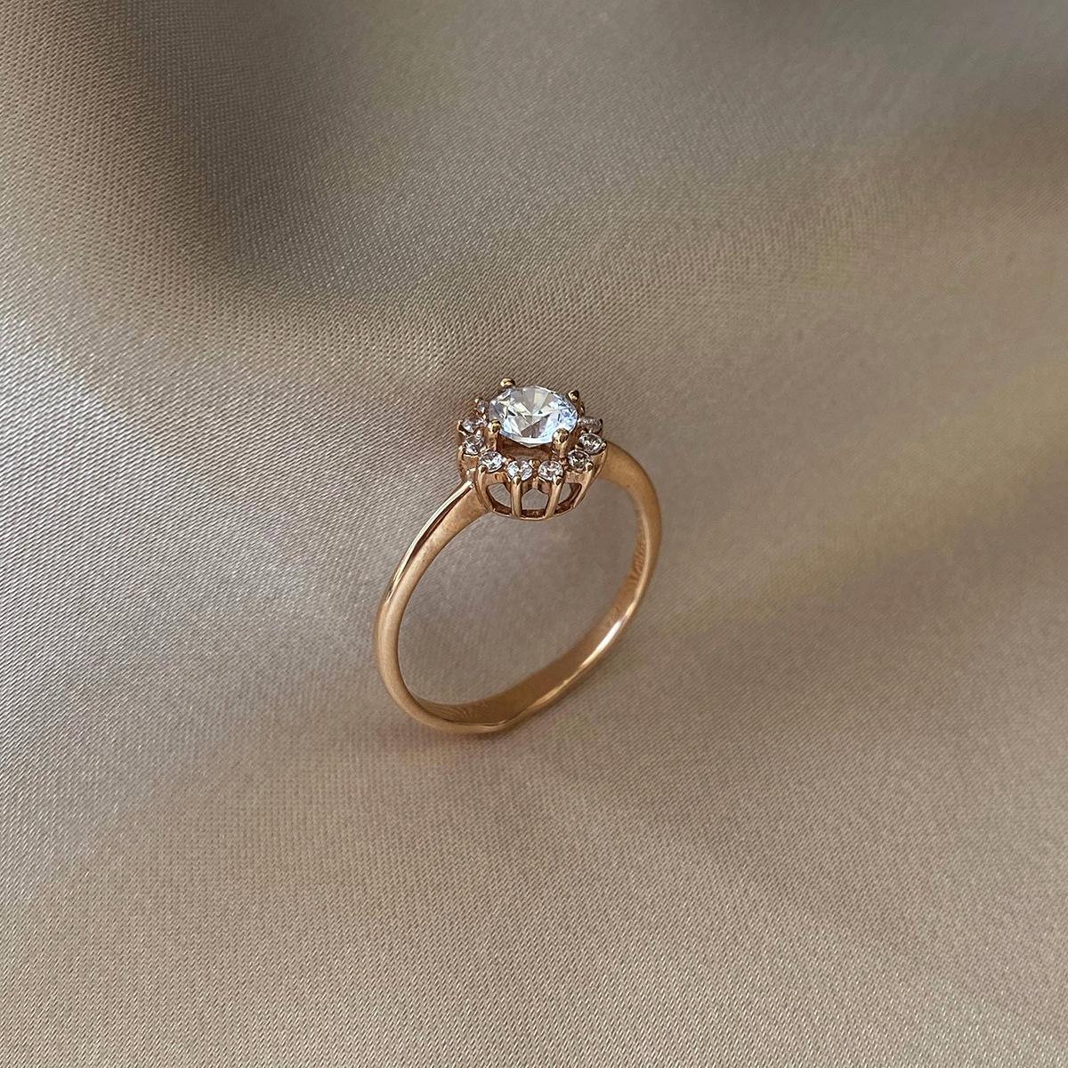 Кольцо из красного золота с фианитами 000103744 000103744 16.5 размера от Zlato - 5