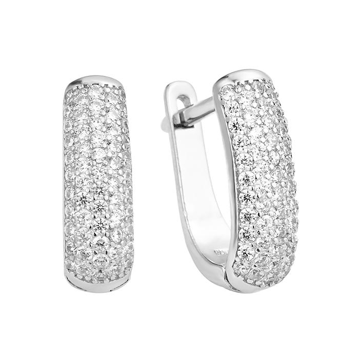 Серебряные серьги с фианитами 000130685 000130685 от Zlato
