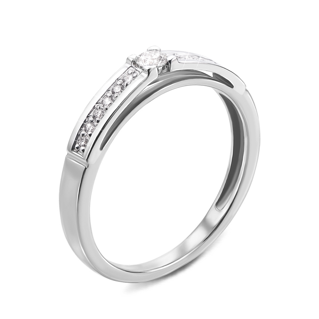 Кольцо из белого золота с бриллиантами 000134580