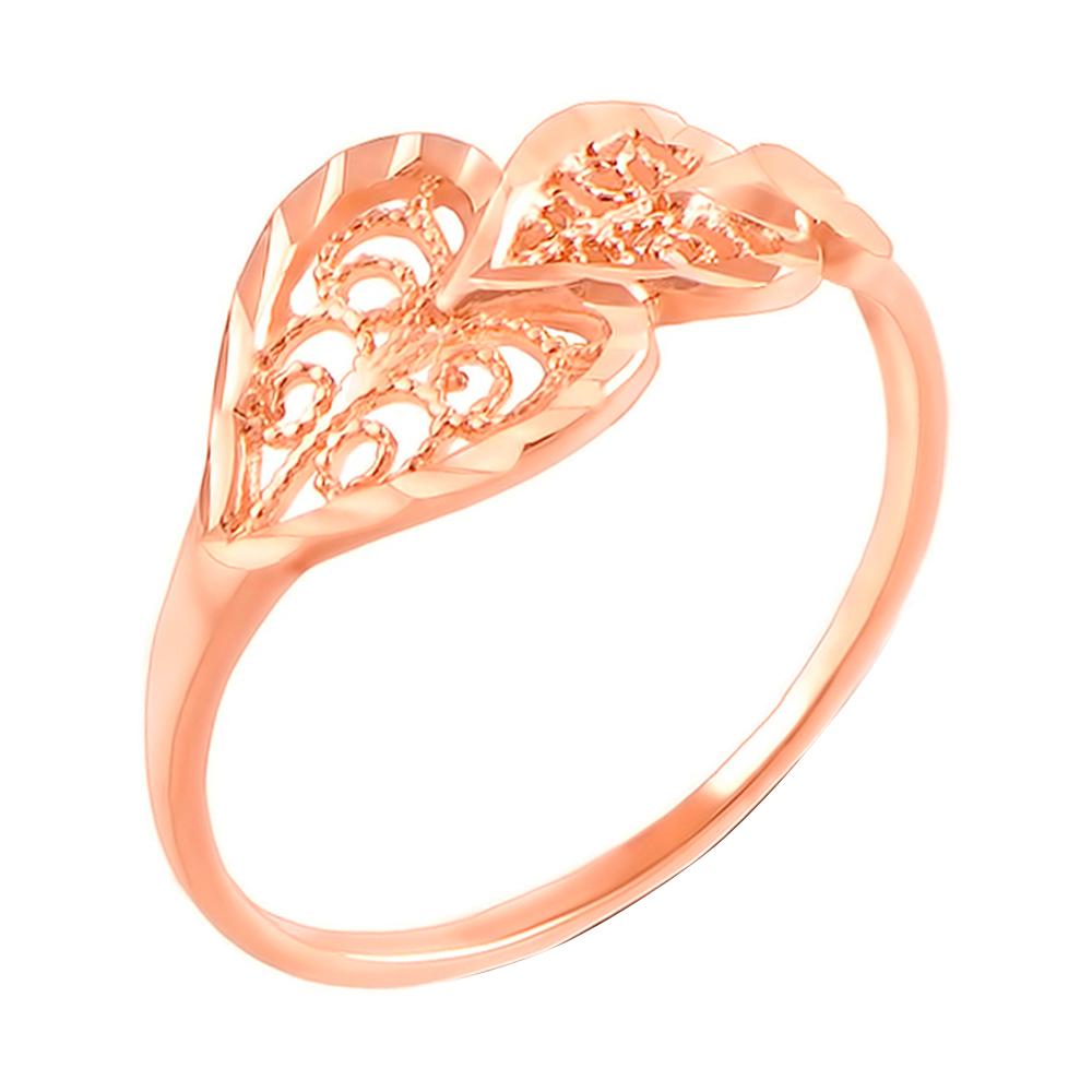 Кольцо из красного золота с алмазной гранью 000103800 000103800 17.5 размера от Zlato