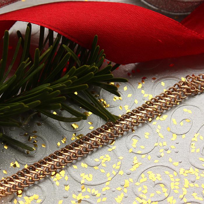 Браслет из красного золота в плетении Вияна, 6мм 000002317 000002317 21.5 размера от Zlato - 3