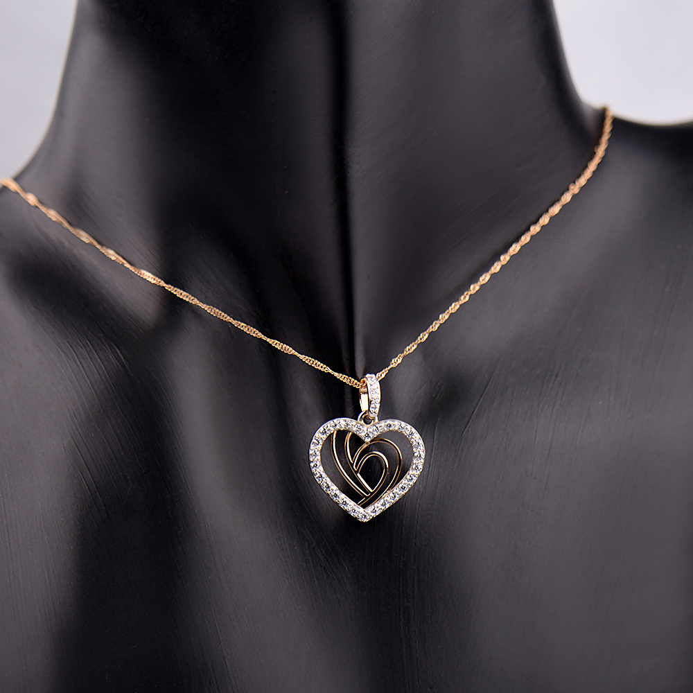 Золотой кулон-сердце  с фианитами 000103905 000103905 от Zlato - 2