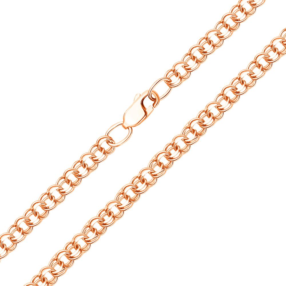 Золотая цепочка в красном цвете с алмазной гранью, 5мм 000117334
