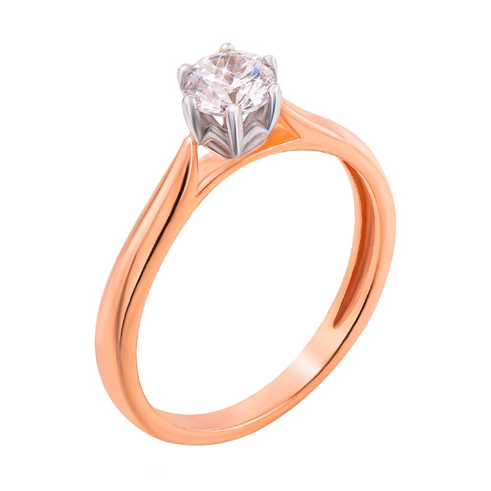 Золотое помолвочное кольцо Единственная с цирконием 000104584 17.5 размера от Zlato