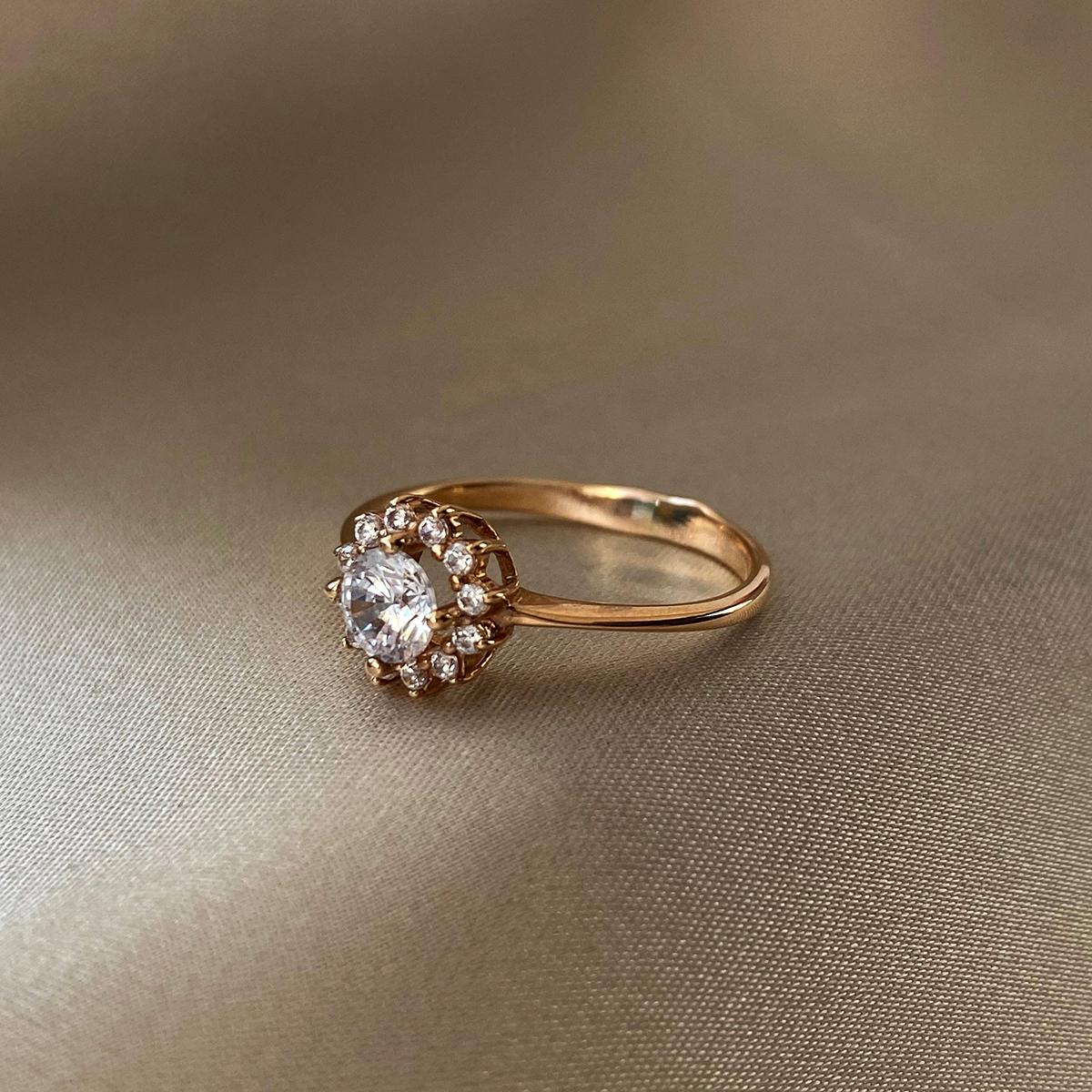 Кольцо из красного золота с фианитами 000103744 000103744 16.5 размера от Zlato - 4