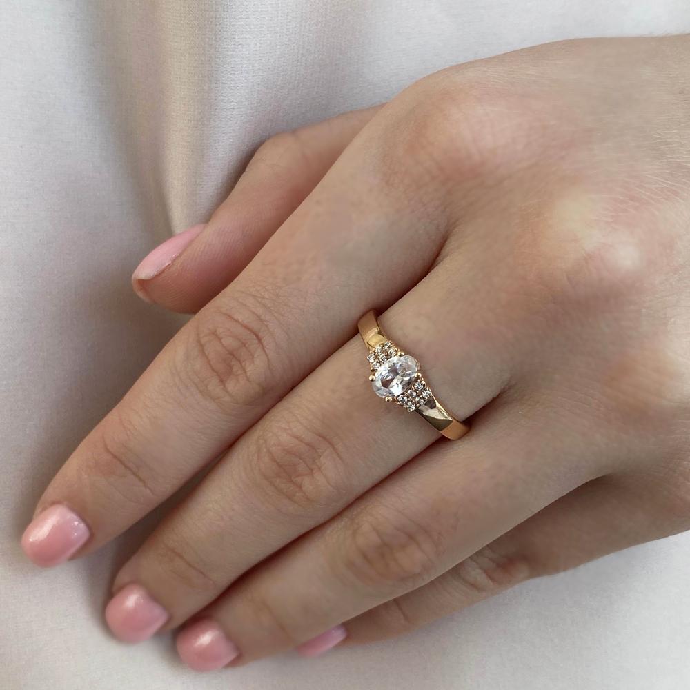 Кольцо из красного золота Бриджит с фианитами 000103794 16 размера от Zlato - 4