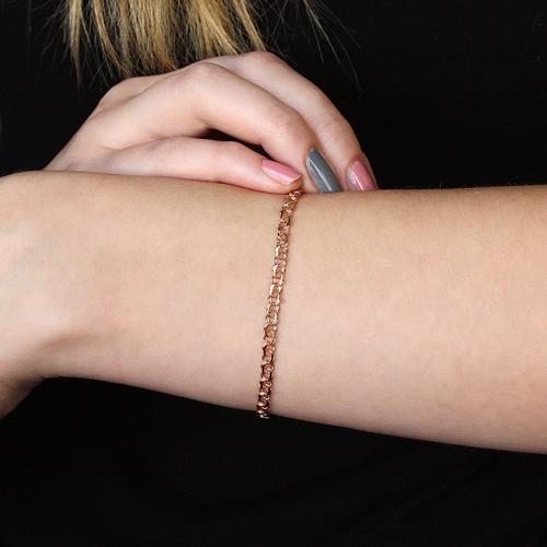 Золотой браслет в свободном плетении арабский бисмарк, 3мм 000056962 000056962 18.5 размера от Zlato - 2