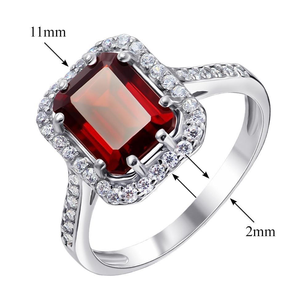 Серебряное кольцо Тенгери с гранатом и фианитами 000061492 000061492 17 размера от Zlato - 4