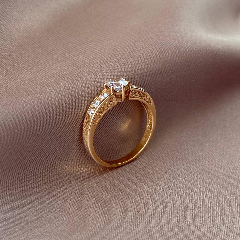 Кольцо из красного золота Гретель с фианитами 000103792 17.5 размера от Zlato - 2