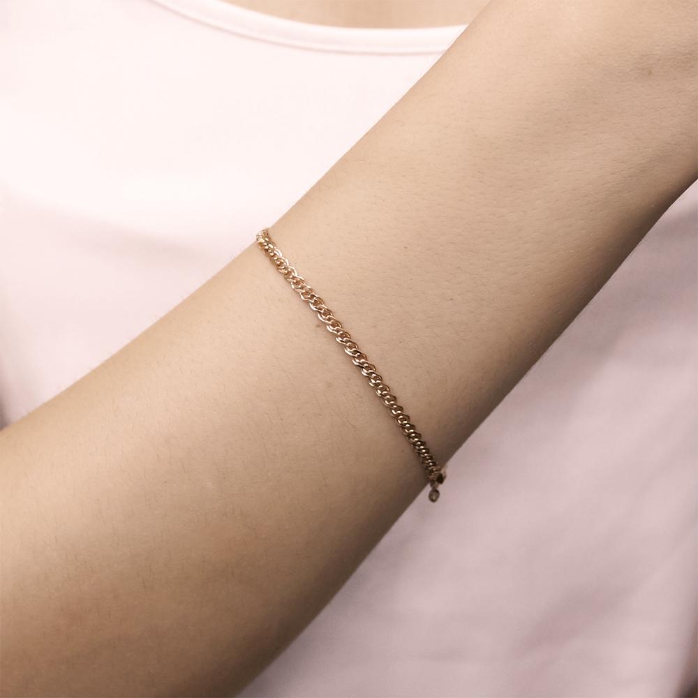 Золотой браслет Нонна с алмазной гранью, 2,5 мм 000095121 18.5 размера от Zlato - 2