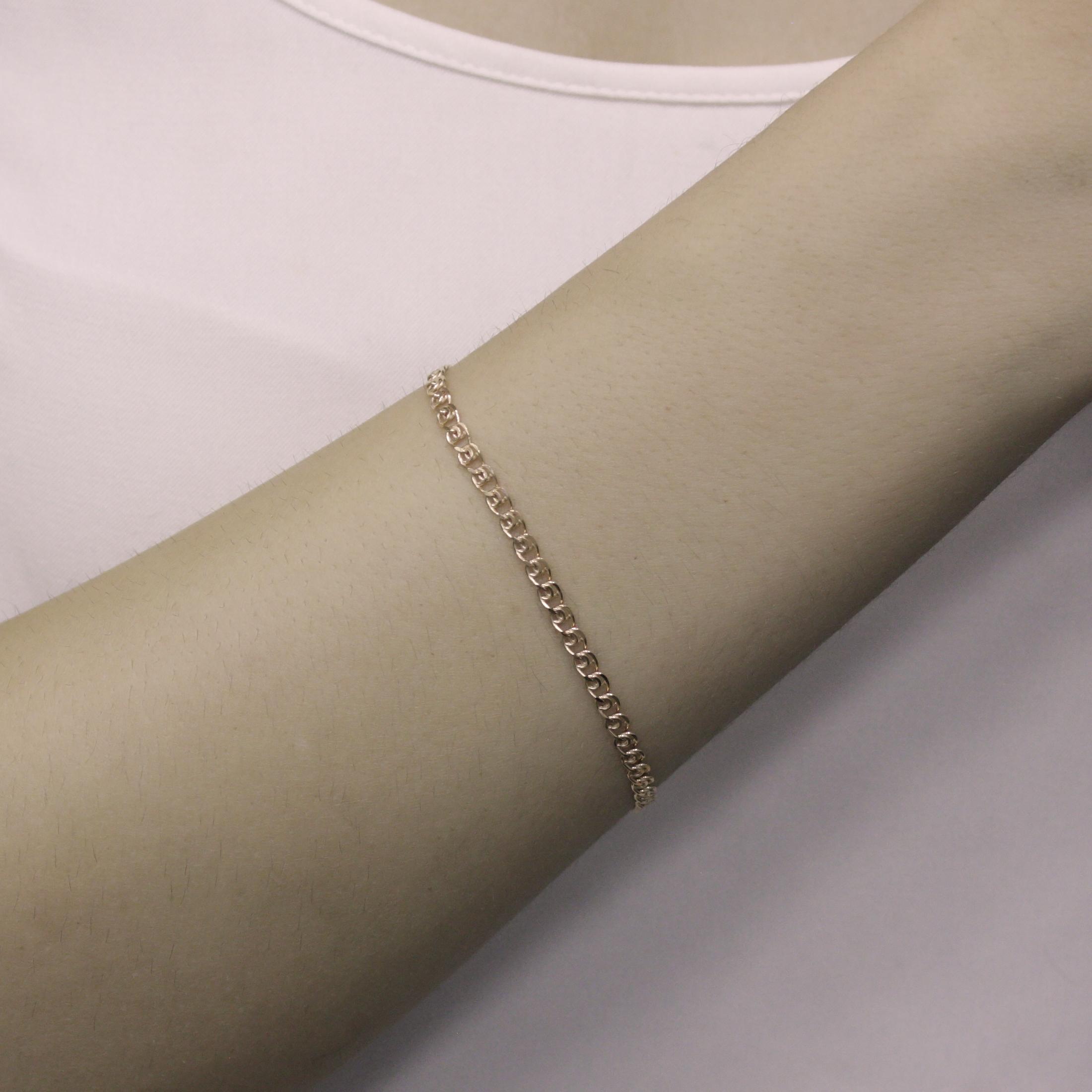 Золотой браслет в красном цвете, 3мм 000095127 000095127 18 размера от Zlato - 2
