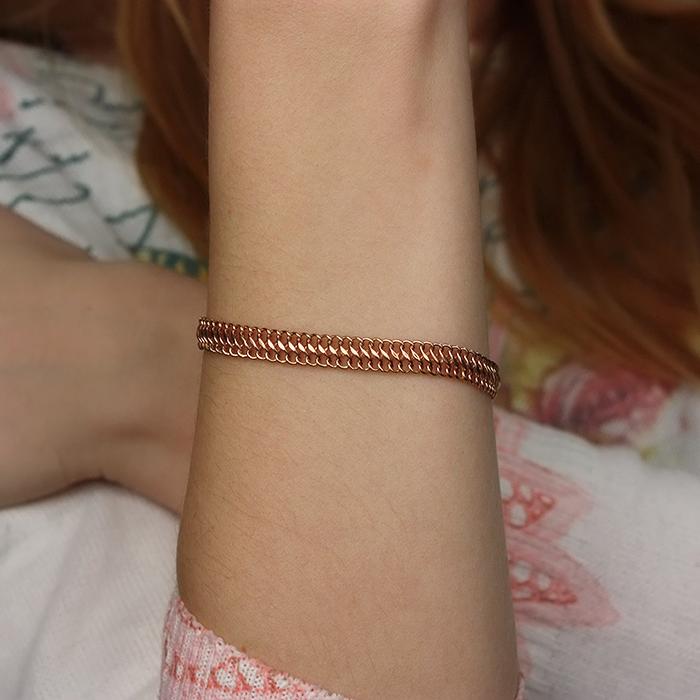 Браслет из красного золота в плетении Вияна, 6мм 000002317 000002317 21.5 размера от Zlato - 2