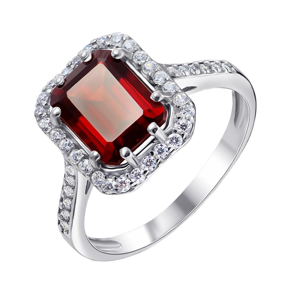 Серебряное кольцо Тенгери с гранатом и фианитами 000061492 000061492 17 размера от Zlato