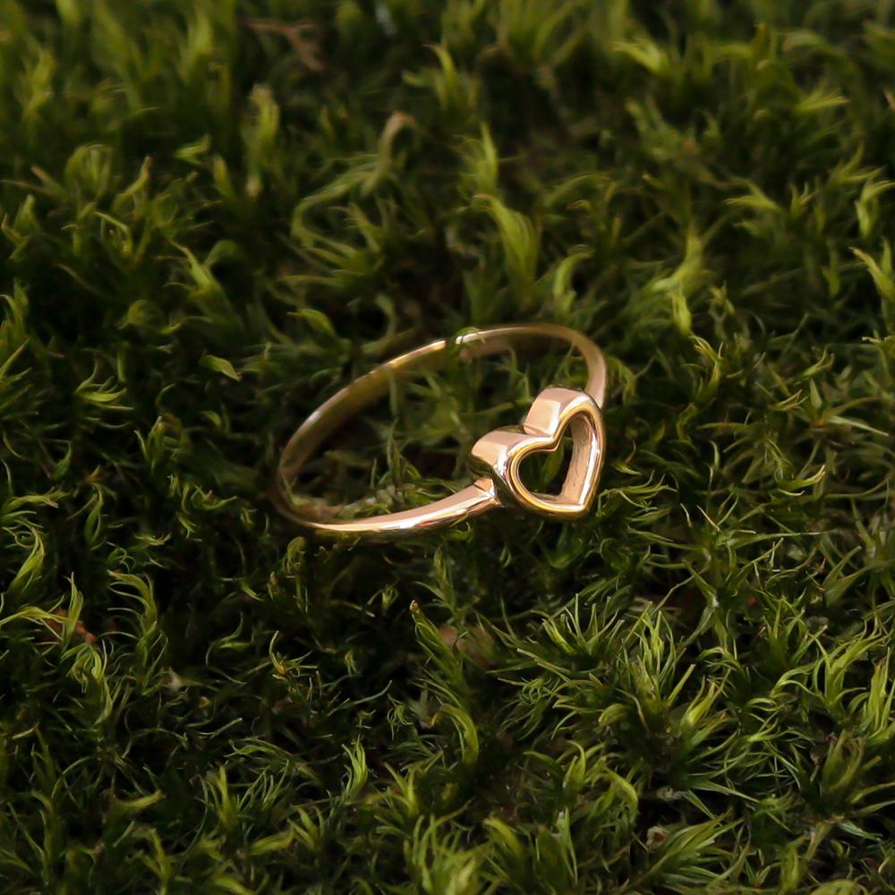 Золотое кольцо I love you с шинкой в форме сердца 000036379 000036379 15.5 размера от Zlato - 3