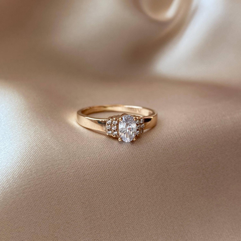 Кольцо из красного золота Бриджит с фианитами 000103794 16 размера от Zlato - 3