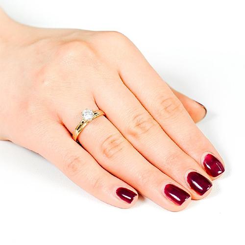 Золотое кольцо с цирконием Swarovski 000036705 000036705 19 размера от Zlato - 2