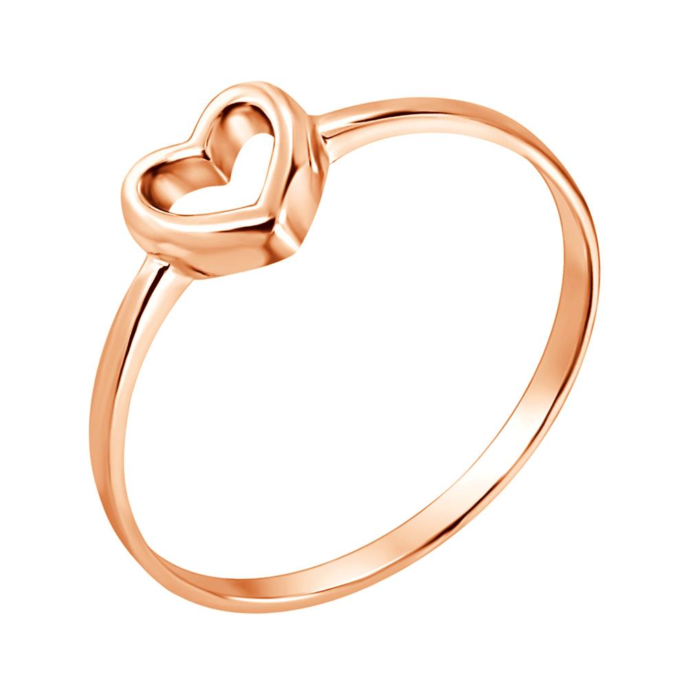 Золотое кольцо I love you с шинкой в форме сердца 000036379 000036379 15.5 размера от Zlato