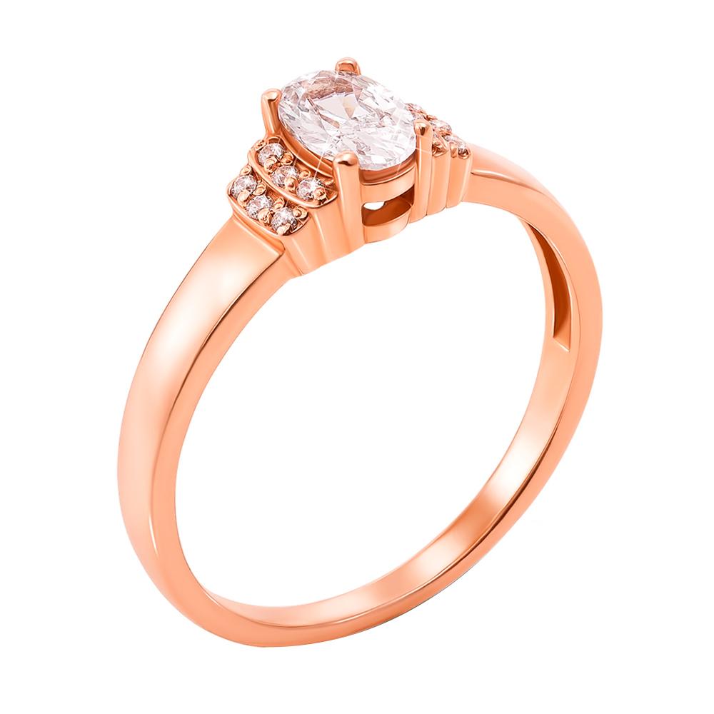 Кольцо из красного золота Бриджит с фианитами 000103794 17 размера от Zlato
