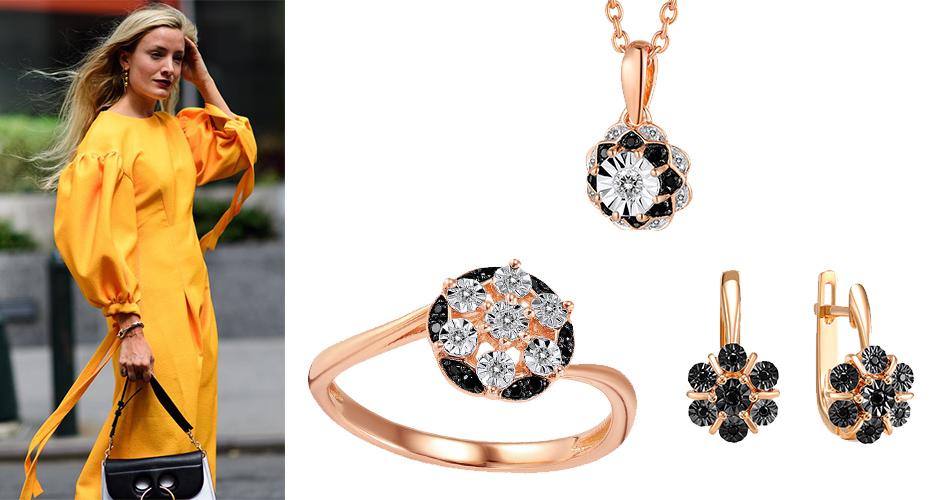 Ювелирные украшения с черными бриллиантами