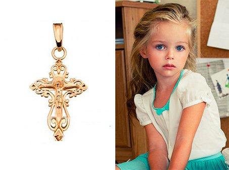 Купить освященный золотой крестик