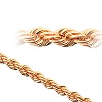 Плетения цепочек из золота веревка