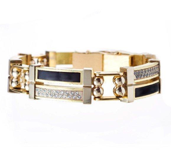 Золотой мужской браслет