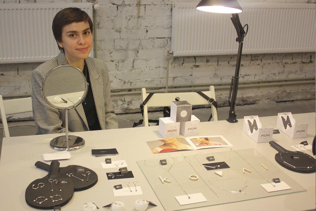 Стенд с украшениями на Ukrainian jewelry market