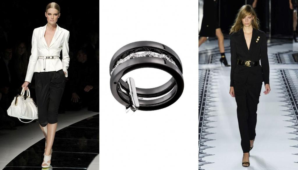 женское кольцо из карбона