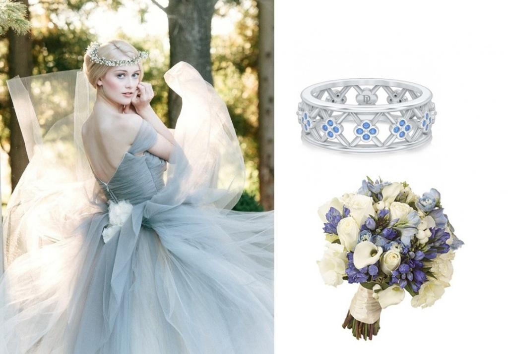 Эксклюзивные обручальные кольца с цветными камнями
