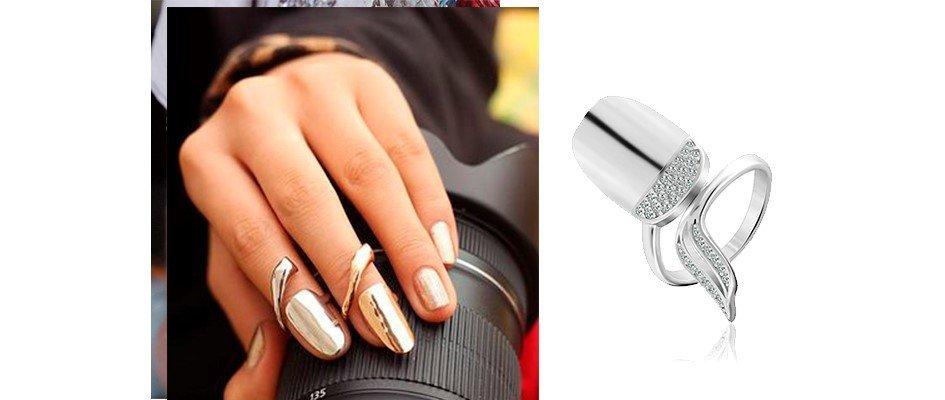 Золотое фаланговое кольцо