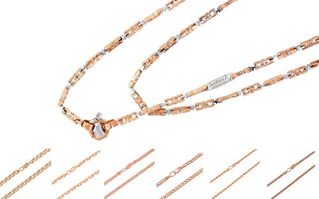золотые цепочки 45 см женские