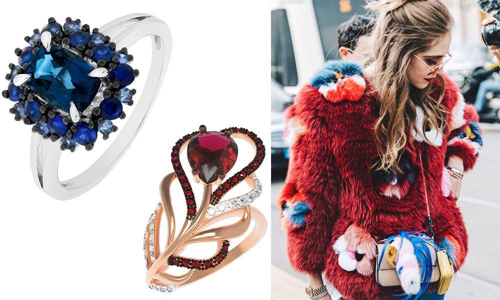 красивые кольца с камнями