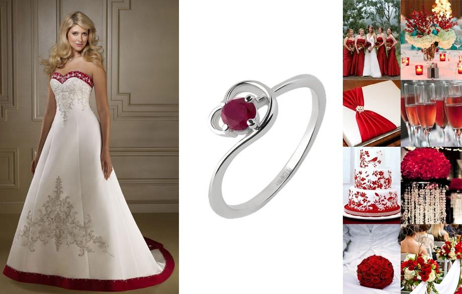 обручальные кольца с рубинами