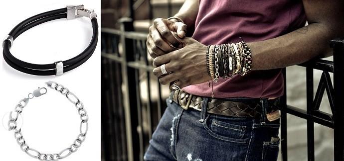 Купить браслет из серебра мужской минск