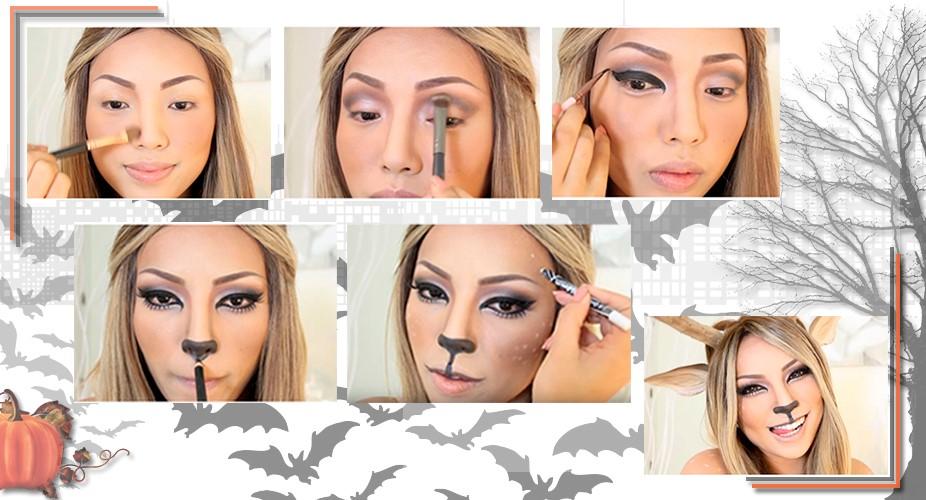Пошаговый грим на Хэллоуин