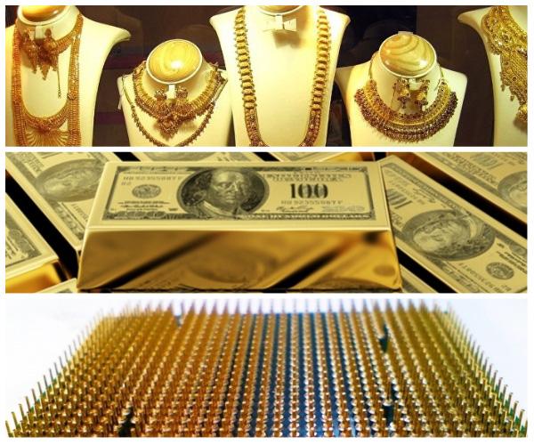 золото и золотые украшения