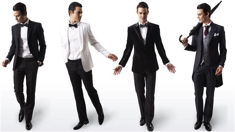 Мужчины в деловом стиле одежды