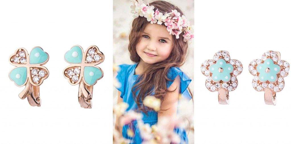 фото золотых детских серёжек