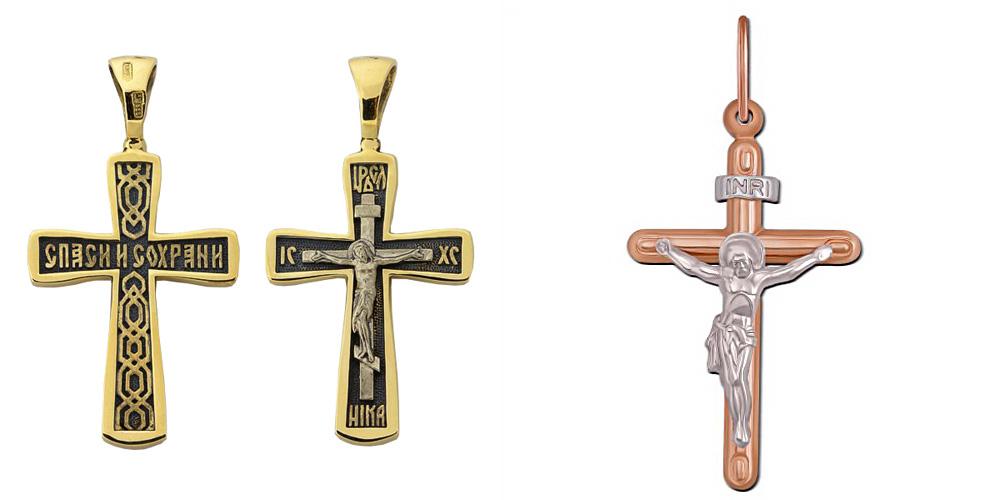 Православный и католический кресты