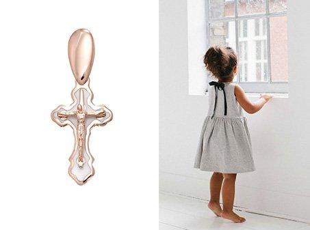 Детский крестик для крещения